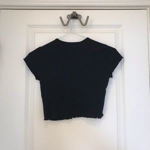 Topshop Tops - Topshop black cropped top size: 4